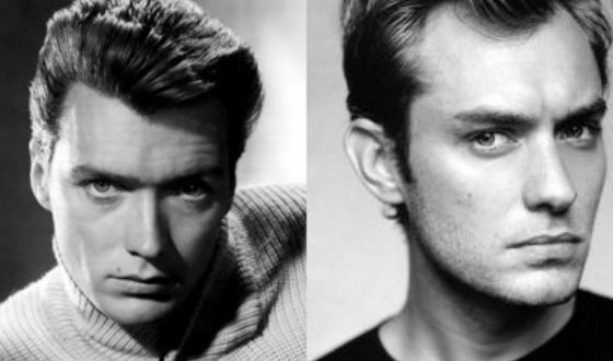Jude Law looks like the young Clint Eastwood (on the left)