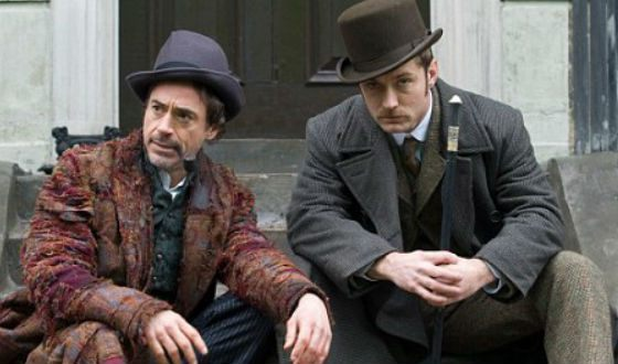 Robert Downey Jr. and Jude Law as another Holmes and Watson