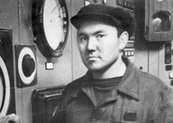 Nursultan Nazarbayev in his youth