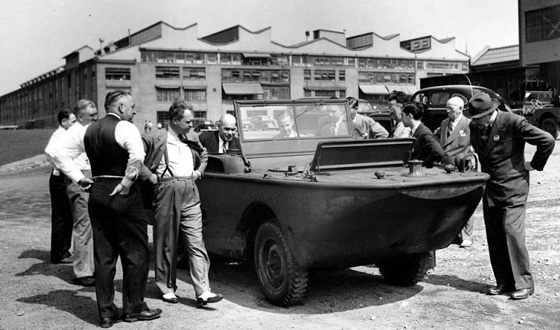 Ben Carlin traveled the world in an amphibious jeep