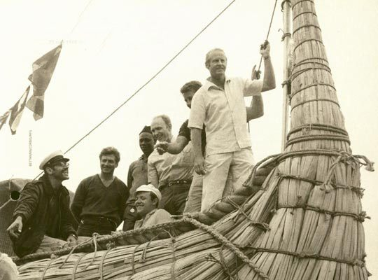 Tour Heyerdahl's transatlantic journey on a papyrus boat