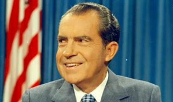 37th President of the United States Richard Nixon