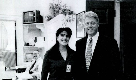 Pictured: Bill Clinton and Monica Lewinsky
