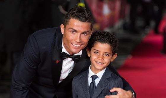 Cristiano Ronaldo with son