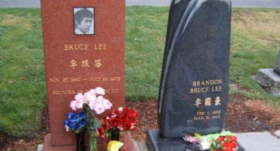 Son and father buried nearby