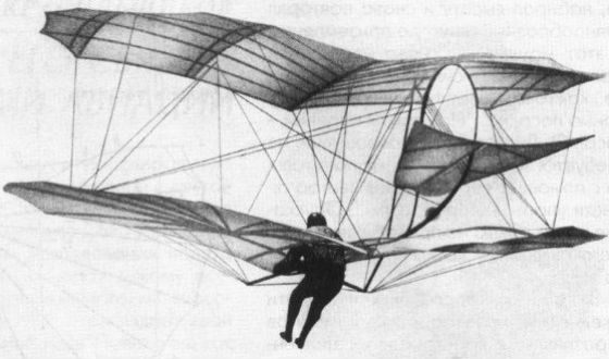 Attempt of the first flight of the person
