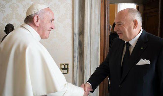 Vyacheslav Kantor and Pope Francis