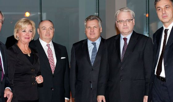 Vyacheslav Kantor with the heads of Croatia, Montenegro, former head of Poland