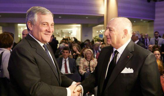 With the President of the European Parliament Antonio Tajani