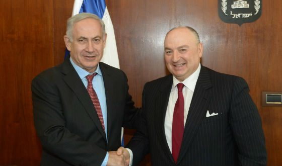 Vyacheslav Kantor and Israeli Prime Minister Benjamin Netanyahu