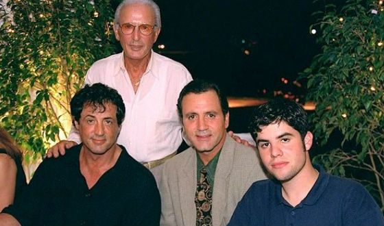 Men of the Stallone family: Sylvester, his brother, eldest son and father