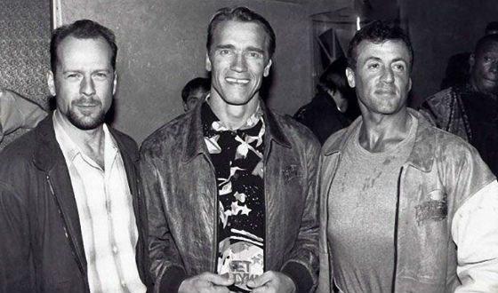 Legendary photo: Stallone, Schwarzenegger and Bruce Willis