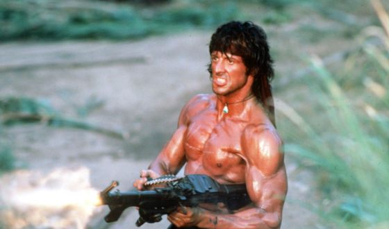"""Shot from the movie """"Rambo. First blood"""""""
