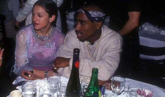 Tupac decided to part with Madonna because she was white.