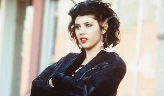 """Young Marisa Tomei in the film """"My cousin Winnie"""""""