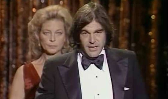 Oliver Stone receives his first Oscar