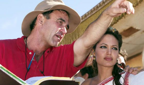 Oliver Stone and Angelina Jolie on the set of Alexander