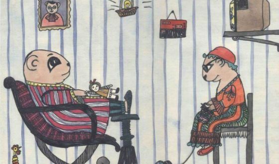 Шарж Саши Путри «Папа и мама в образе хомячков»