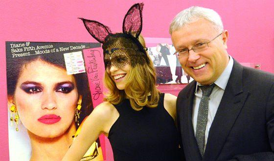 Model Elena Perminova with husband Alexander Lebedev