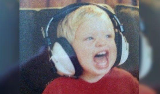 Dominic Sherwood in childhood