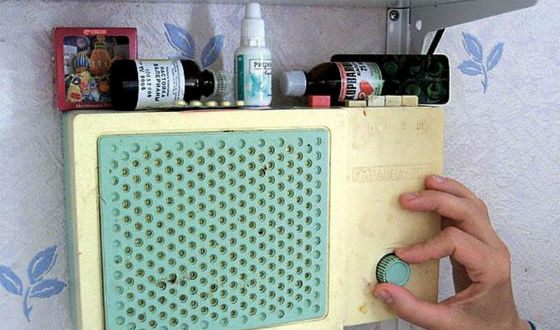 Wired radio was almost in every kitchen