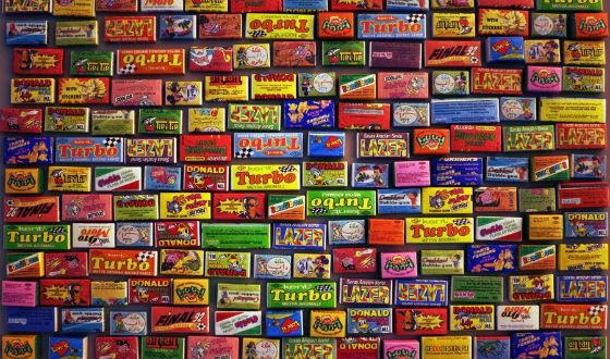 A collection of chewing gum packs - a real treasure
