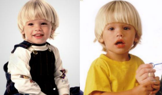 Baby photos of Cole Sprouse