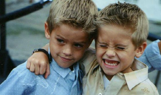 The Sprouse brothers performed the part of the same character alternately