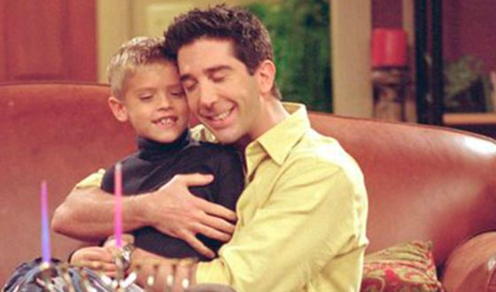 Cole Sprouse and David Schwimmer