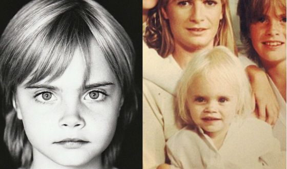 Cara Delevingne's childhood photos