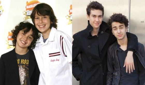 Brothers Wolfe in childhood and now