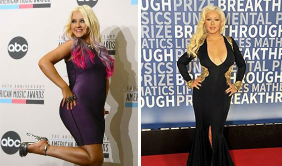 Christina Aguilera was able to refuse snacking.