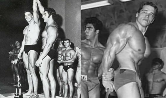Арнольд Шварценеггер на «Мистер Вселенная» в 1966 и 1967