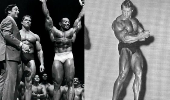 Арнольд Шварценеггер на «Мистере Олимпия» в 1969 и 1970