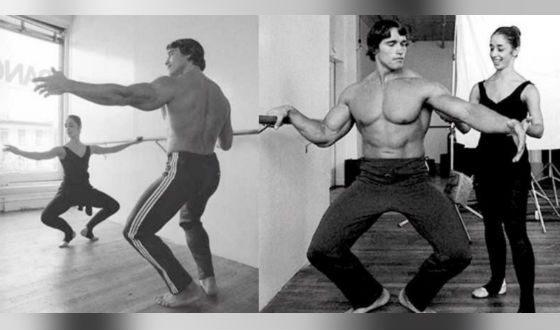Арнольд Шварценеггер на уроке балета