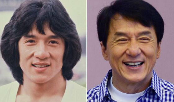 Jackie Chan in his youth and now (1981 VS 2015)