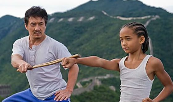 Jackie Chan as sensai of Will Smith's son