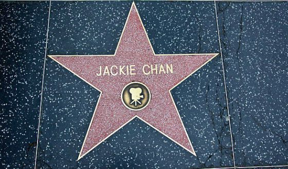 Jackie Chan's star in the Hollywood Walk of Fame