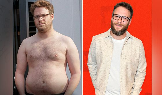 Seth Rogen before and after his weight loss
