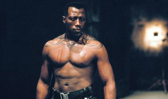 Young Wesley Snipes in Blade
