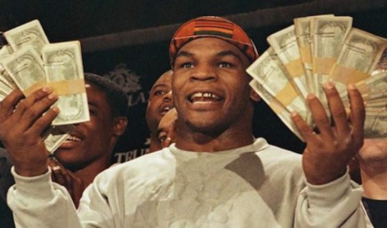 Mike Tyson no more littering money