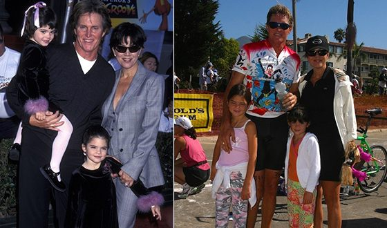 Kylie Jenner with her parents and sister