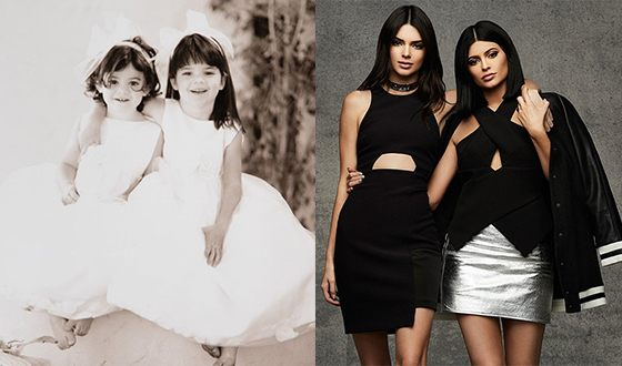 Kylie and Kendall Jenner as a child and now