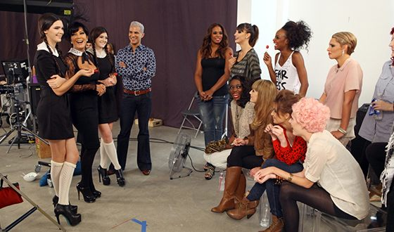 On the shooting of the reality show America's Next Top Model