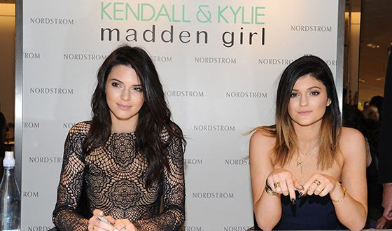 Jenner sisters at the presentation of