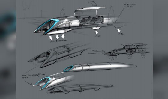 Проект Hyperloop (набросок Илона Маска)