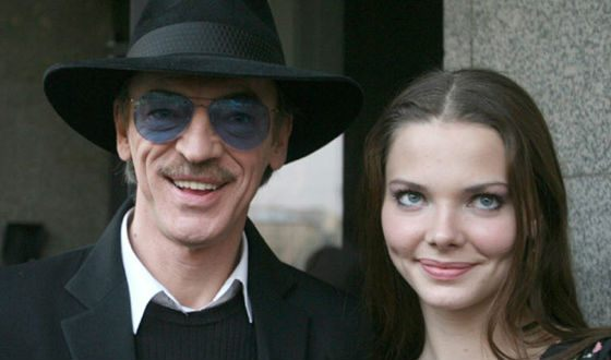 Mikhail Boyarsky and his daughter Liza
