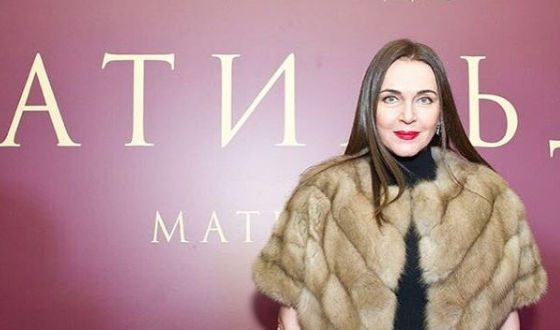 "Tatyana Lyutaeva at the premiere of the film ""Matilda"" (2017)"