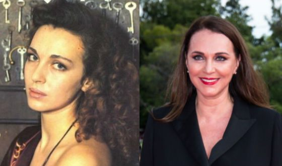 Tatyana Lyutaeva in her youth and now