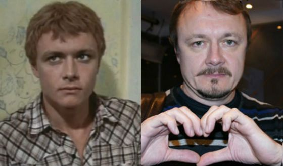 Vladimir Shevelkov in his youth and now